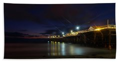 Crystal Beach Pier Blue Hour  Hand Towel