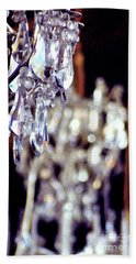 Hand Towel featuring the photograph Crystal Chandelier Close Up by D Renee Wilson