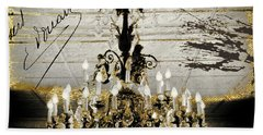 Crystal Chandelier Gold And Silver Bath Towel