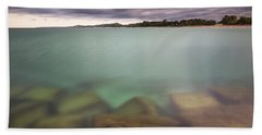 Hand Towel featuring the photograph Crystal Clear Lake Michigan Waters by Adam Romanowicz