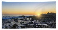 Bath Towel featuring the photograph Crystal Cove Sunset by Anthony Baatz