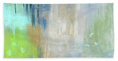 Bath Towel featuring the painting Crystal Deep  by Michal Mitak Mahgerefteh