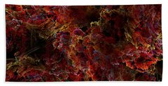 Bath Towel featuring the digital art Crystal Inspiration Number Two Close Up by Olga Hamilton