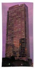 Crystal Skyscraper Sunset Hand Towel