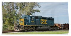 Hand Towel featuring the photograph Csx Sd40-3 by John Black