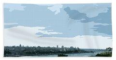 Cuba City And Skyline Art Ed2 Hand Towel