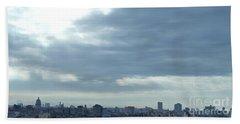 Cuba City And Skyline Art Bath Towel