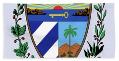 Cuba Coat Of Arms Bath Towel by Movie Poster Prints