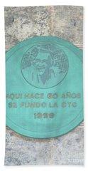 Cuba Plaque 1999 Bath Towel