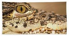 Cuban Croc Smile Bath Towel