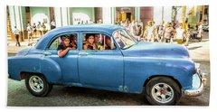 Cuban Taxi Hand Towel