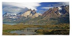 Cuernos Del Pain And Almirante Nieto In Patagonia Hand Towel