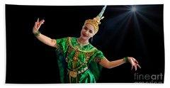 Cultural Thai Dance Bath Towel