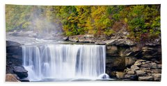Cumberland Falls Hand Towel by Alexey Stiop