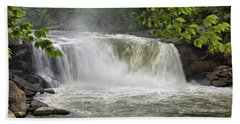 Cumberland Falls Close-up Bath Towel