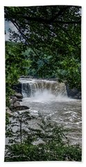 Hand Towel featuring the photograph Cumberland Falls by Joann Copeland-Paul