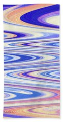 Cumulus Clouds And Blue Sky Abstract Bath Towel