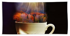 Cup Of Autumn Hand Towel