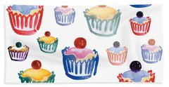 Cupcake Crazy Bath Towel