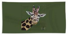 Curious Giraffe Bath Towel