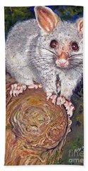Curious Possum  Bath Towel
