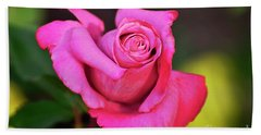 Hand Towel featuring the photograph Curled Beauty by Debby Pueschel