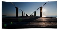 Hand Towel featuring the photograph Currituck Sunset by David Sutton