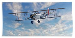 Curtiss Jn-4h Biplane Bath Towel