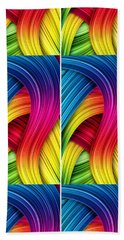 Curved Abstract Bath Towel by Sheila Mcdonald