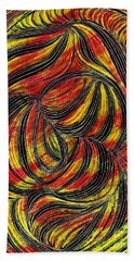 Curved Lines 2 Hand Towel