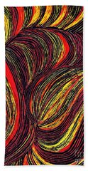 Curved Lines 3 Hand Towel
