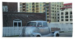 Bath Towel featuring the photograph Custom Chevy Asbury Park Nj by Terry DeLuco