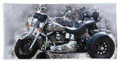 Customized Harley Davidson Hand Towel