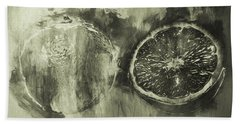 Bath Towel featuring the photograph Cut And Sliced Monochrome by Jack Torcello