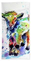 Cute Baby Goat Hand Towel by Kovacs Anna Brigitta
