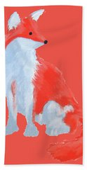 Cute Fox With Fluffy Tail Hand Towel