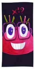 Cute Geek Mathematician Watercolor Candy Hand Towel