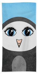 Cute Geometric Penguin Hand Towel