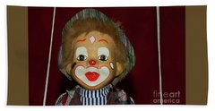Bath Towel featuring the photograph Cute Little Clown By Kaye Menner by Kaye Menner