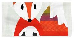 Cute Red Fox 2- Art By Linda Woods Hand Towel