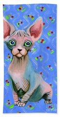 Cute Sphynx Hand Towel