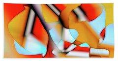 Cutouts Bath Towel by Ron Bissett
