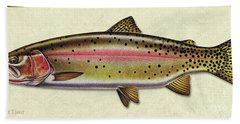 Cutthroat Trout Id Bath Towel