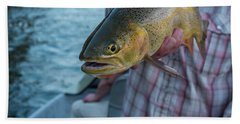 Hand Towel featuring the photograph Cutthroat Trout by Ron White