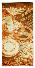 Cutting A Scene Of Vintage Film Bath Towel by Jorgo Photography - Wall Art Gallery
