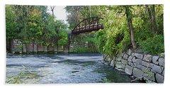 Cuyahoga River At Peninsula Hand Towel