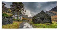 Hand Towel featuring the photograph Cwmorthin Slate Ruins by Adrian Evans
