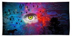 Cyber Nature Hand Towel