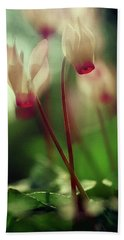Cyclamens Bath Towel