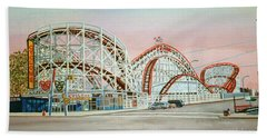 Cyclone Rollercoaster Coney Island, Ny Towel Version Bath Towel